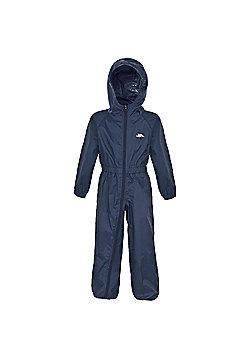 Trespass Button All In One Waterproof Rain Suit - Navy