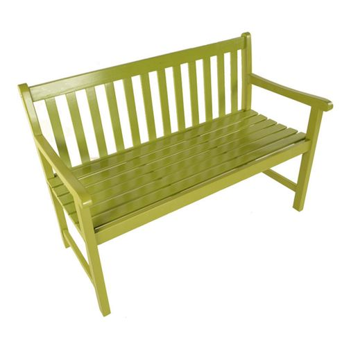 Painted Wooden Bistro Bench 129cm Green