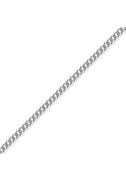 Jewelco London Sterling Silver 3mm Gauge Curb Chain - 26 inch