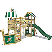 Wickey StormFlyer Wooden Climbing Frame With Green Slide