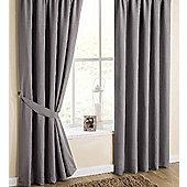 Utah Pencil Pleat Curtains - Grey
