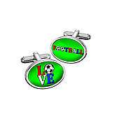Sub Text Love Football Cufflinks By WD London