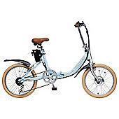 """Hopper E-Club 20"""" Electric Bike Pastel Blue"""