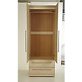 Welcome Furniture Warwick 76.2 cm 2 Drawer Wardrobe - Light Oak