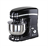 Homegear Electric 1500W Food Stand Mixer+5 Litre Bowl+Lid+ 3 Tools Black