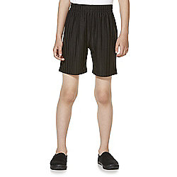 F&F School 2 Pack of Boys Sports Shorts years 05 - 06 Black