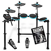 Alesis DM Lite Electronic 5 Piece Drum Kit With Free Backbone Tutorial Book & CD
