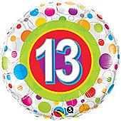 18' Age 13 Colourful Dots (each)