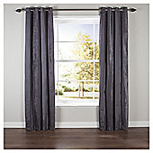 Chenille Stripe Eyelet Curtains W168xL37cm (66x54''), Slate