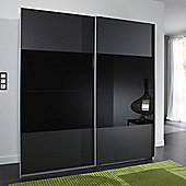 Amos Mann furniture Munich 2 Door Sliding German Wardrobe - Black