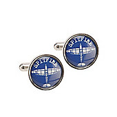 RAF Blueprint Spitfire Cufflinks. Official Royal Air Force Licensed Product