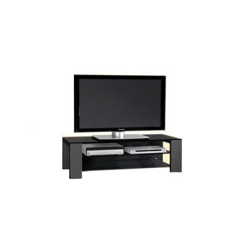 Mor AV Series Glass TV Stand - Black
