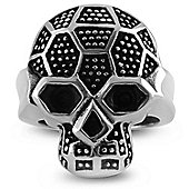 Urban Male Men's Solid Stainless Steel Two Colour Skull Ring 26mm