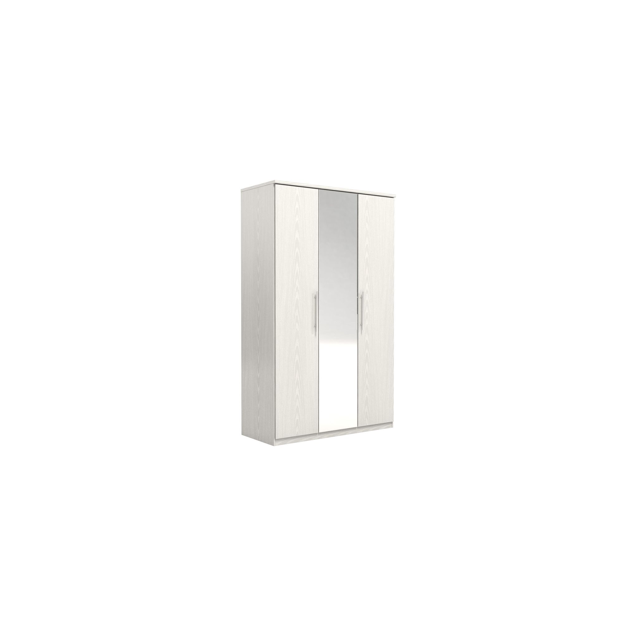 Urbane Designs Prague 3 Door Wardrobe - White at Tesco Direct