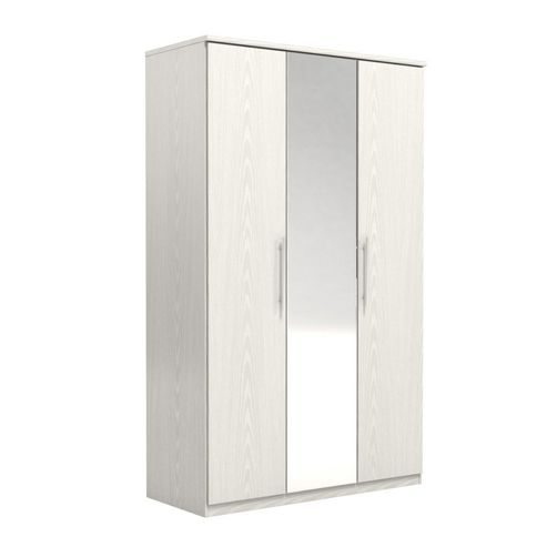 Urbane Designs Prague 3 Door Wardrobe - White