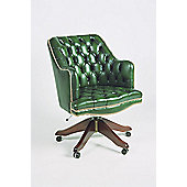 Curzon Gallery Collection Deans High-Back Chair with Foam Interior - Green