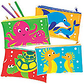 Sealife Buddies Pencil Cases - Pack of 4