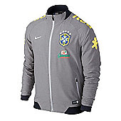 2014-15 Brazil Nike Select Woven Jacket (Grey) - Grey