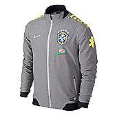 2014-15 Brazil Nike Select Woven Jacket (Grey) - Grey