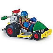 Teenage Mutant Ninja Turtles Half-Shell Heroes Patrol Buggy with Racer Leo