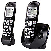 Sagemcom D380A Twin Cordless Phone with Answering Machine - Black