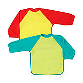 Mothercare Towelling Coverall Bibs - 2 Pack