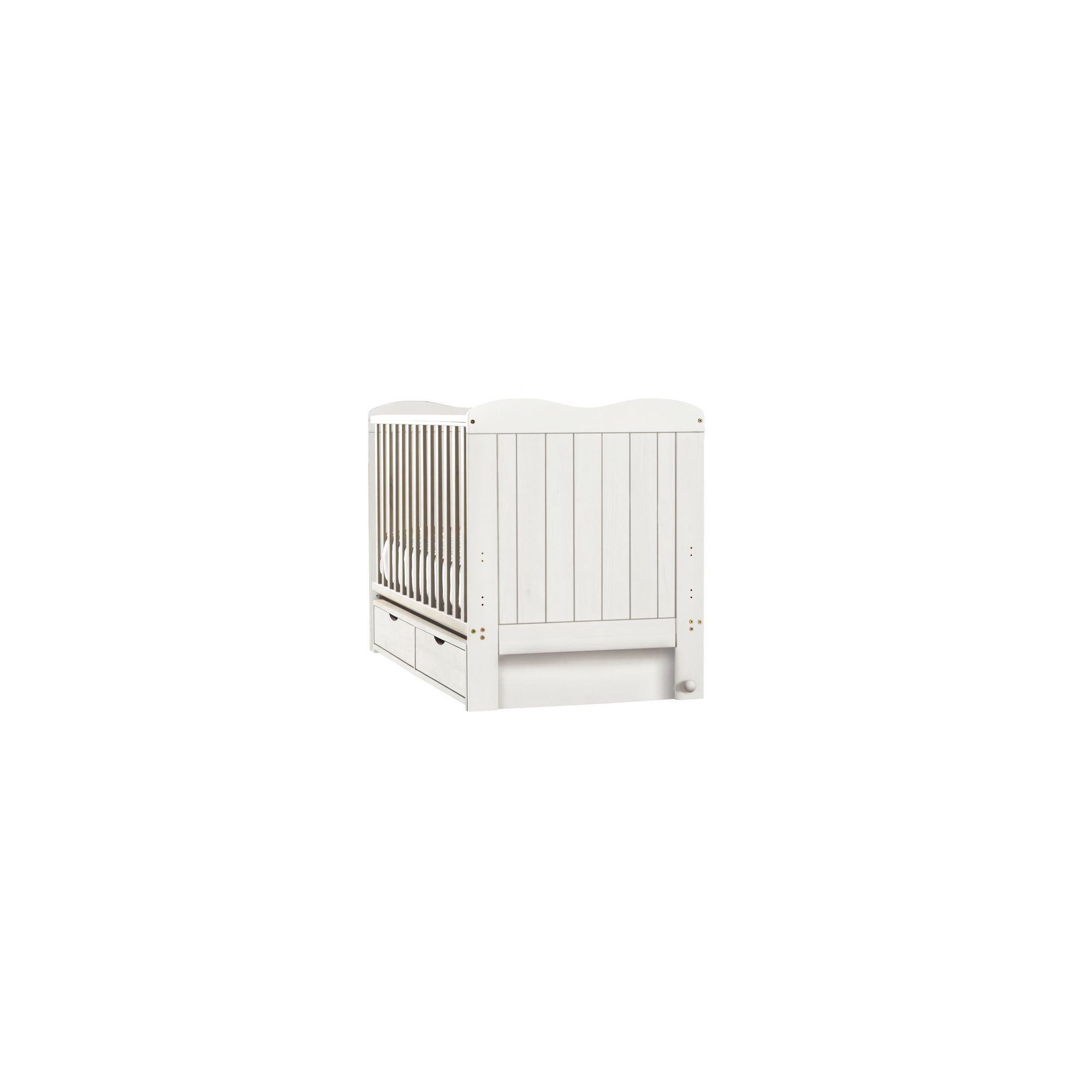 Saplings Glideaway Cot Bed - White at Tesco Direct