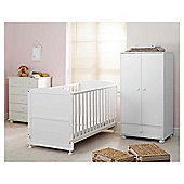 Saplings Harper 3 Piece Nursery Room Set, White