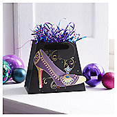 Tesco Shoe Christmas Gift Bag, Small