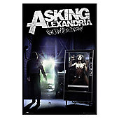 Asking Alexandria Gloss Black Framed From Death To Destiny AA Poster
