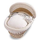 Izziwotnot Premium Gift Natural Wicker Moses Basket (Cream)