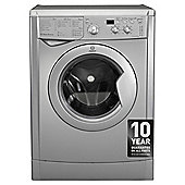 Indesit IWD71251S Washing Machine, 7Kg Wash Load, 1200 RPM Spin, A+ Energy Rating, Silver