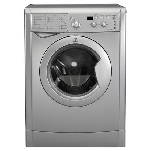 Indesit IWD71251S, Freestanding Washing Machine, 7Kg Wash Load, 1200 RPM Spin, A+ Energy Rating, Silver