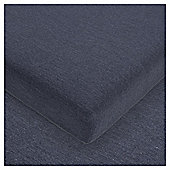 House of Cotton Jersey Fitted Sheet Dark Navy, Double