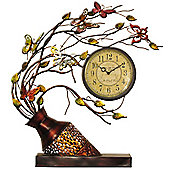 House Additions Metal Art Vase Flower Clock