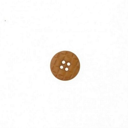 Buttons 20mm - Quilted Dark Tan