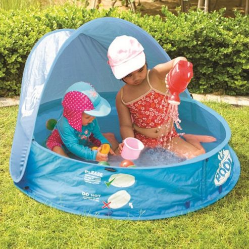 Safetots Pop-Up Pool and Sand Pit with 50+ UPF Shade