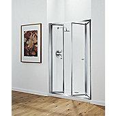 Coram Showers 120cm Tri Fold Door - White - Plain
