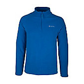Snowdon Mens Cobolt Microfleece Breathable Antipill Warm Thermal Zip Fleece - Electric blue