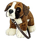 Keel Toys 27cm Boxer On A Lead Plush Soft Toy