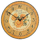 Roger Lascelles Clocks French Sunflower Wall Clock