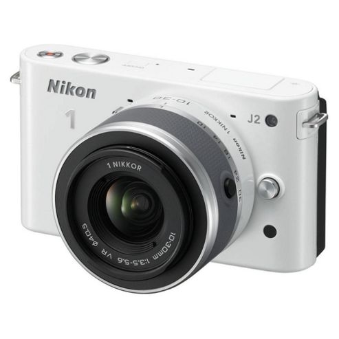 Nikon J2 CSC 10-30mm Lens Kit, White, 10.1MP, 3.0 inch LCD Screen