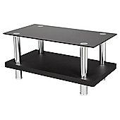 "Tesco Wood and Chrome TV Stand for up to 32"" TV - Black"