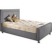 ValuFurniture Calverton Divan Bed and Mattress Set - Silver Chenille Fabric - Small Single - 2ft 6