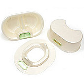 Baby - Wash + Toilet Training Set - White / Green