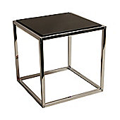 Domino - Stacking Cube Side / End Table - Silver / Black