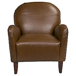 Lausanne Armchair Leather Antique Saddle