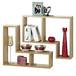 Twin - Display / Storage Shelves - Set Of Two - Oak