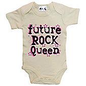 Dirty Fingers Future Rock Queen Baby Bodysuit - Cream