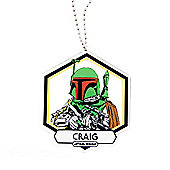 Star Wars Personalised Boba Fett Christmas Tree Decoration (Single)